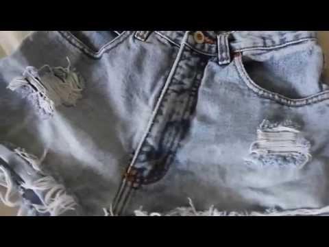 Как сделать шорты с завышенной талией [rus sub]