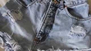 Как сделать шорты с завышенной талией [rus sub](Оригинальное видео: https://www.youtube.com/watch?v=yGuet9CH50U., 2015-08-12T14:57:53.000Z)