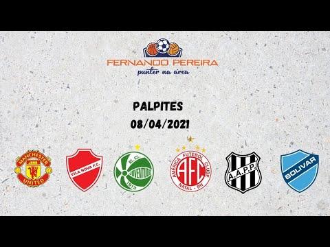 PALPITES HOJE 08/04/2021