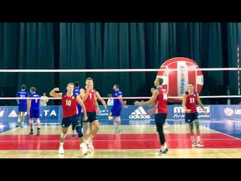 USA vs Brazil Highlights (2017-8-19), Day 2 of USAV Cup