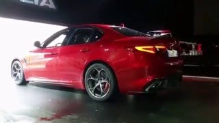 Alfa Romeo Giulia QV (2016) ULTIMATE sound acceleration compilation PART 2! Exhaust notes!