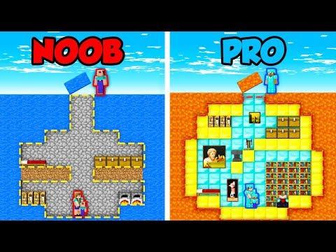 Minecraft NOOB vs. PRO: SECRET FAMILY BASE in Minecraft! (Animation)