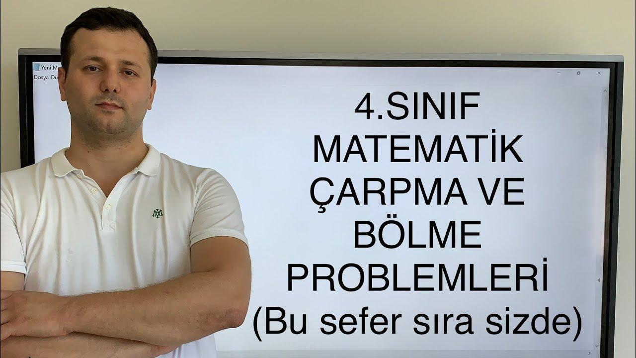 4. Sınıf Matematik Çarpma ve Bölme Problemleri #sırasizde