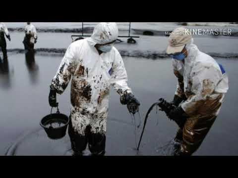 Авария с возгоранием на газонефтяном месторождении «Каламкас» на побережье Каспийского моря.Видео🛢️