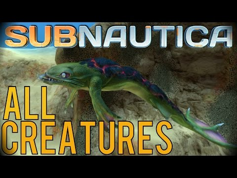 ALL CREATURES (INCLUDING EXPERIMENTAL + NEW ONES) | Subnautica [OUTDATED] from YouTube · Duration:  8 minutes 11 seconds