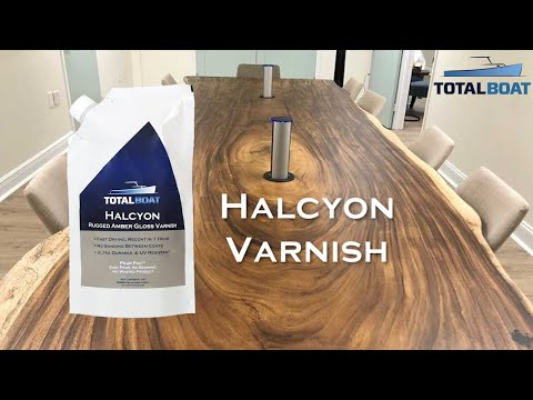 TotalBoat Halcyon Varnish for Home, Boat, Woodworking