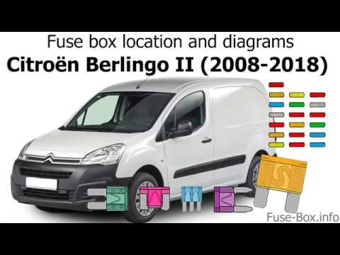 Fuse box location and diagrams Citroen Berlingo II (2008-2018