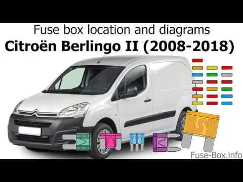 Fuse box location and diagrams: Citroen Berlingo II (2008