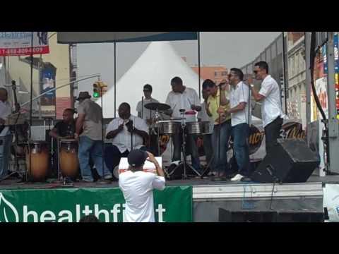 Frankie Ruiz' brother singing Salsa @ The Third Ave  BID Street Fair:  6/27/10