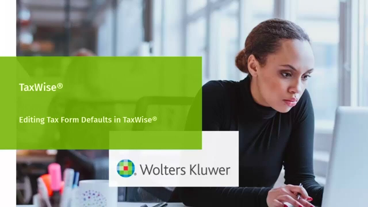 Taxwise editing tax forms defaults youtube taxwise editing tax forms defaults falaconquin
