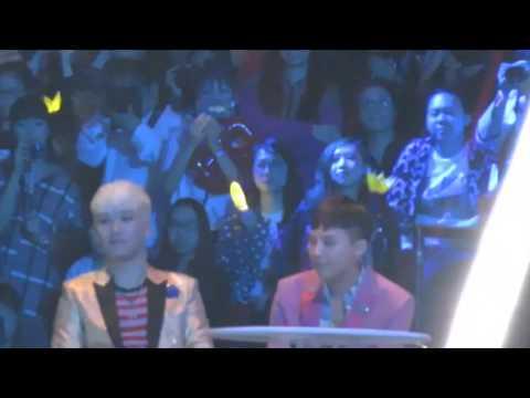 151202 BIGBANG reaction to iKON 'Rhythm Ta' @ MAMA