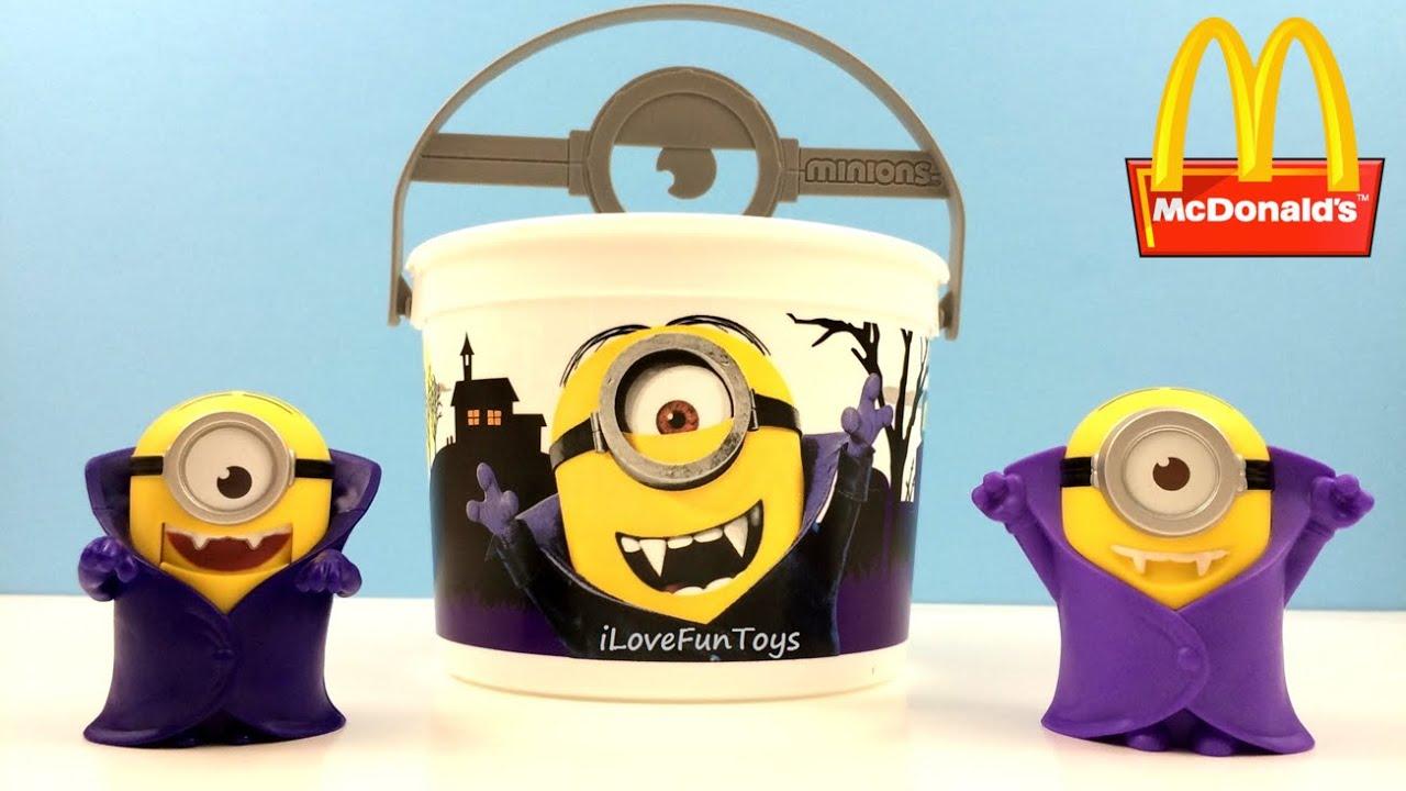 minion vampire 2015 mcdonald's minions halloween buckets pails toy