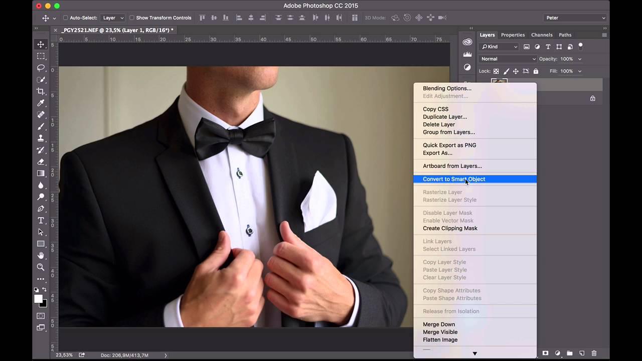 hur retuscherar man i photoshop