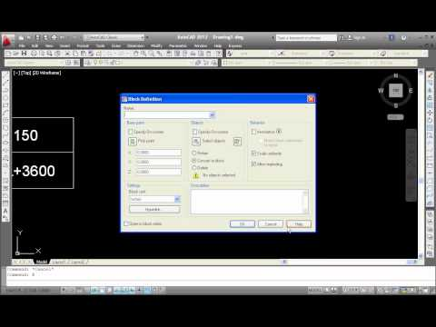 Create block attribute tutorial video AutoCAD