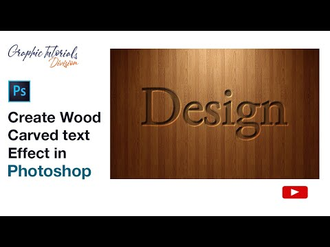 Adobe Photoshop Tutorial: How To Create Wood Carved Text Effect