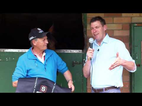 """Peter Snowden racehorse trainer says """"Equi-Ice is an integral part of our training routine"""""""