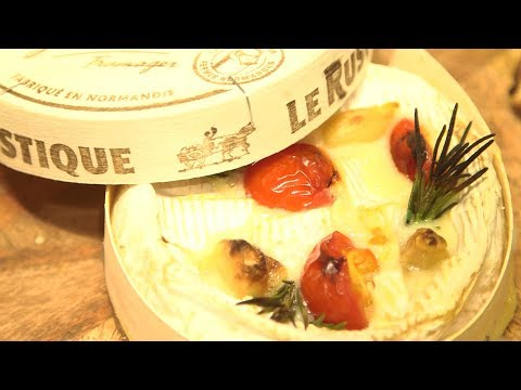 Baked camembert with smoked garlic recipe
