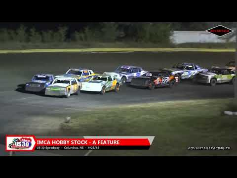 Hobby Stock Feature - US 30 Speedway - 9/28/18