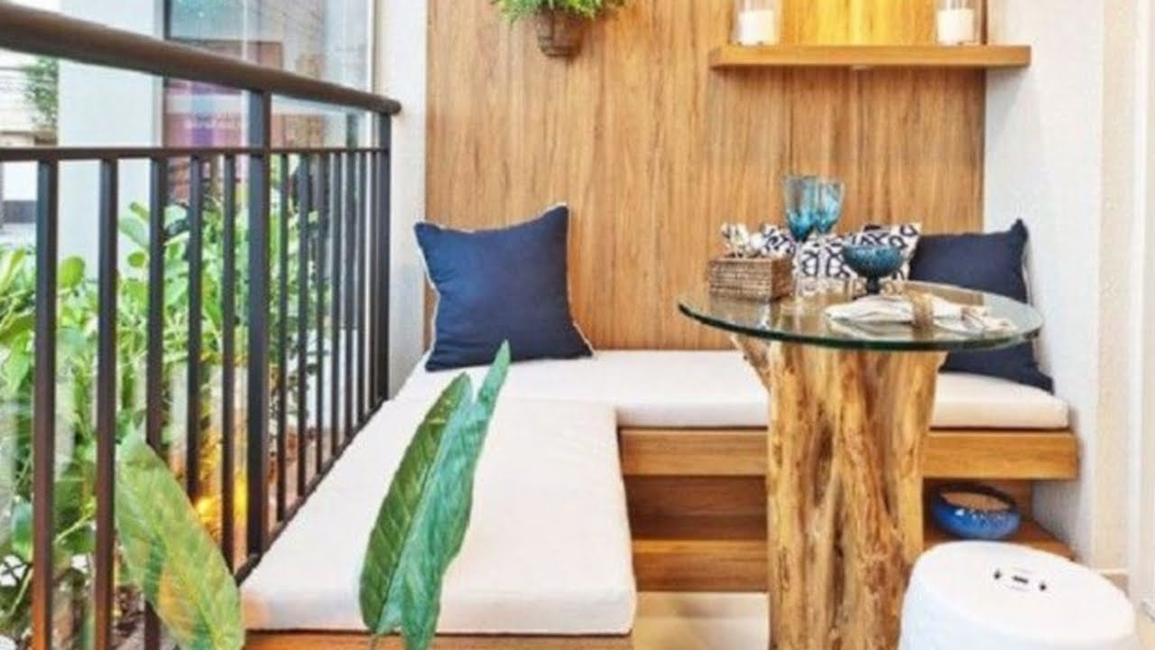 41 small balcony decorating ideas youtube for Small apartment interior design india