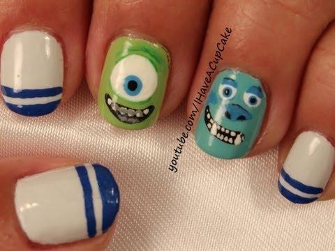 Monsters University Nail Art - YouTube