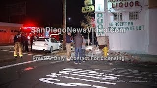 11-03 - TWO-VEHICLE TRAFFIC COLLISION SLAMS INTO LIQUOR STORE