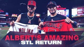 <b>Albert Pujols</b> enjoys a St. Louis homecoming weekend!