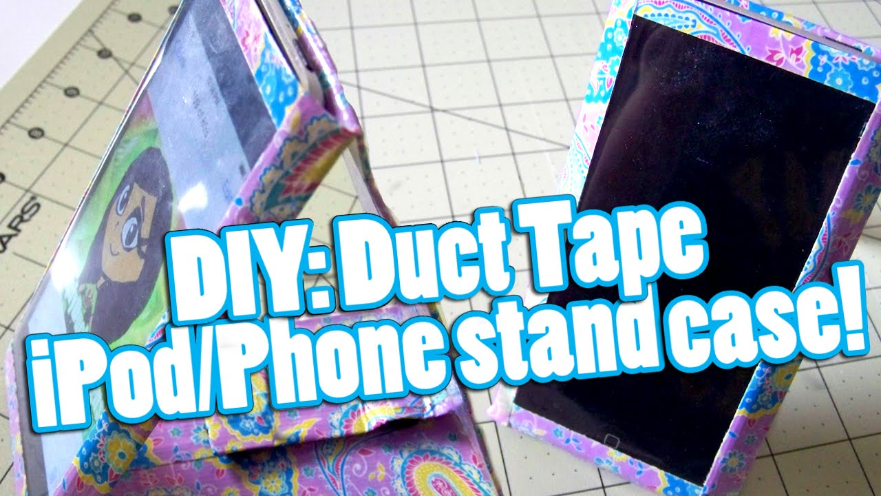 DIY: Duct Tape iPod/Phone Stand Case! - YouTube