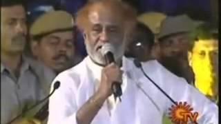 Repeat youtube video Indian Super Star Rajini Kanth's   My Babaji's power Superstar Rajinkanth straight talk