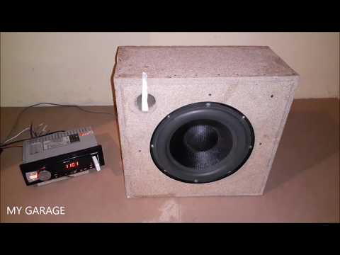 Home made 8 inch subwoofer box