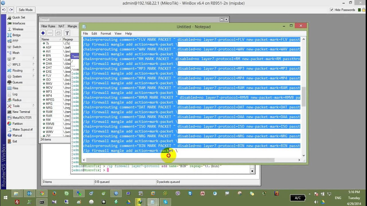 5  Mikrotik Limit Speed Download by File Extension - Phalla CCMT