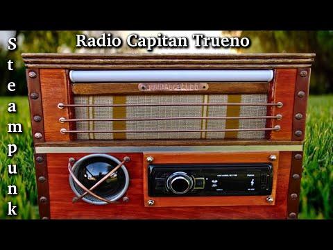 Como hacer radio antigua modelo Capitán trueno