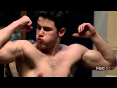 Nick Jonas Shirtless Flexing Workout