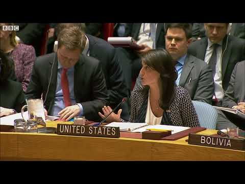 UN ambassador: \'How can you say that with a straight face?\' - BBC News