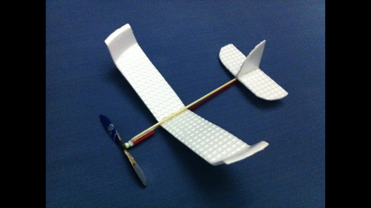 How To Make A Foam Rubber Band Powered Plane Build A