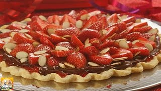 Strawberry Almond Chocolate Tart