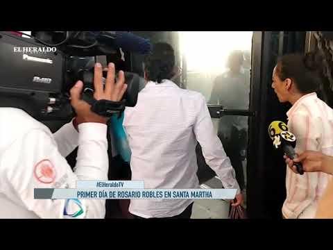 Así fue el primer día de Rosario Robles en Santa Martha Acatitla