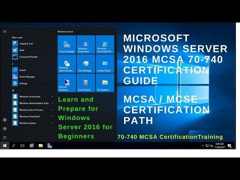70-740 MCSA Certification Exam - Microsoft Certification Guide Windows Server 2016 - Cert Exam Prep