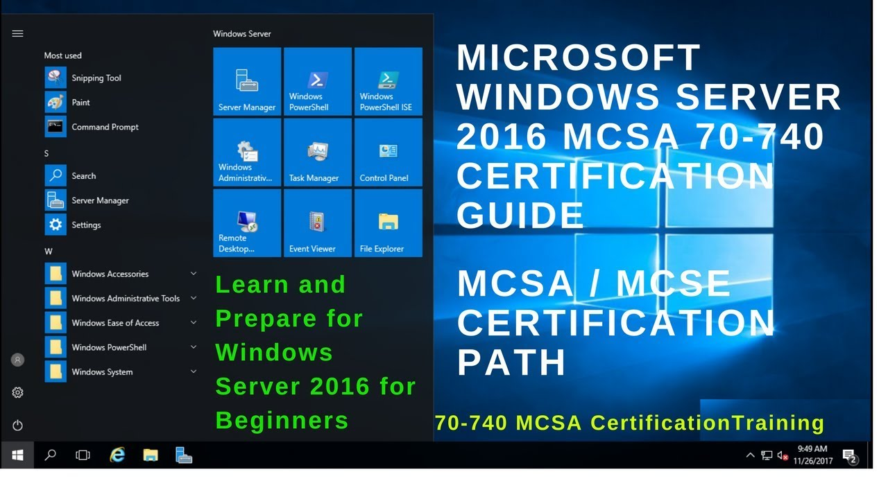 70 740 Mcsa Certification Exam Microsoft Certification Guide