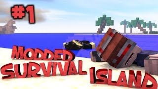 Survival Island Modded - Minecraft: Shipwrecked Part 1