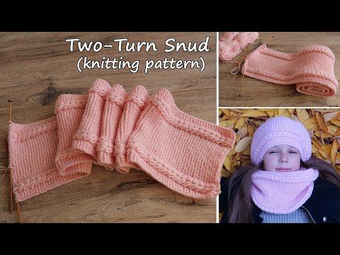 Детский снуд «Маршмеллоу» в два обора спицами.Таблица размеров снуда  Two-Turn Snud Knitting Pattern