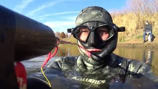 Подводная охота на Днепре в Смоленской области 2018 г