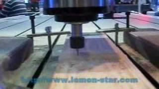 AK CNC router machine 3D engraving wood via artcam artcut type3 software