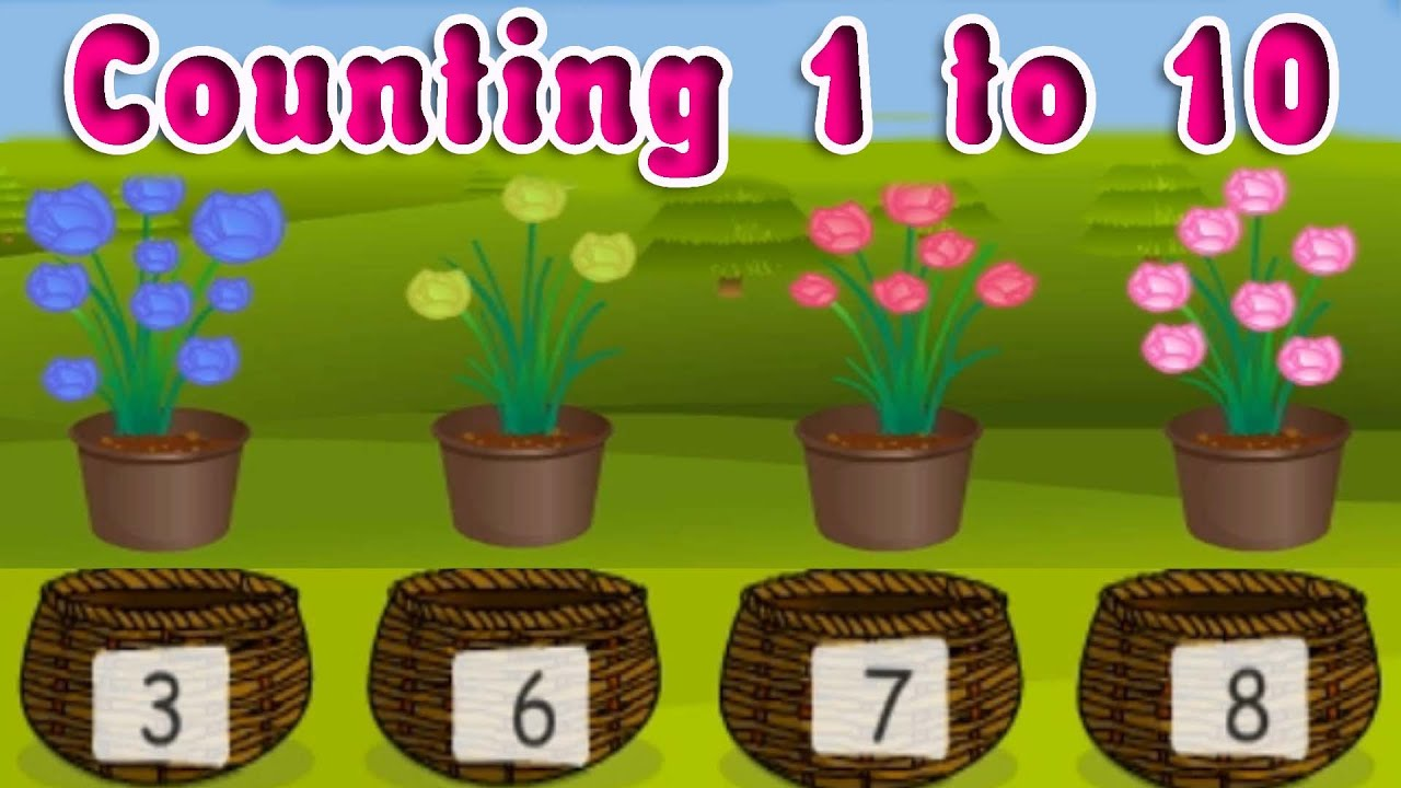 Learning Numbers from 1 to 10, Elementary Counting for Kindergarten ...