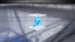 Intro #30 Cubo de Vidro+Saber 3D Editavel www logotipodesigner com