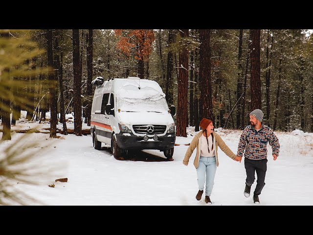 Our week in Vanlife // Unexpected snowstorm while traveling in our van.
