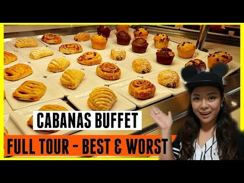 DISNEY CRUISE CABANAS BUFFET | BEST & WORST FOOD AT CABANAS | BREAKFAST CABANAS LUNCH CABANAS