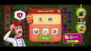 9113 failed game play ▪︎ no hacks, real play ☆ Gardenscapes screenshot 3