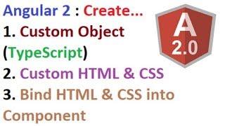 Nasıl **Oluşturun Özel Nesne** (TypeScript, HTML ve CSS) Açısal 2