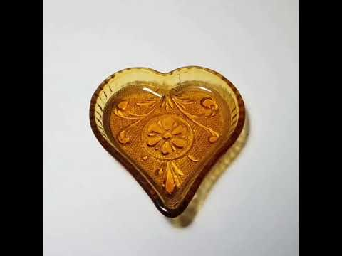 Indiana Glass Heart Candy Dish Produced from 1970 to 1998