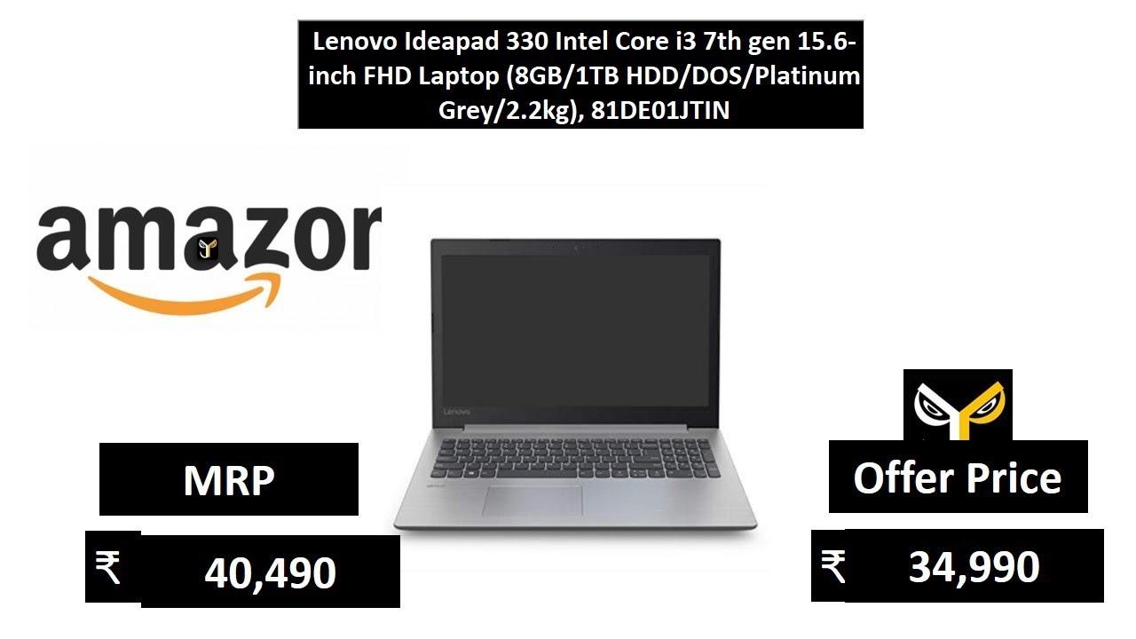 Lenovo Ideapad 330 Intel Core i3 7th gen 15 6-inch FHD Laptop